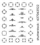 retro rosette and victorian...   Shutterstock .eps vector #637063522
