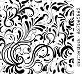floral paisley seamless pattern.... | Shutterstock .eps vector #637065862