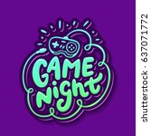 game night banner. | Shutterstock .eps vector #637071772