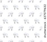 seamless pattern with cute... | Shutterstock .eps vector #637079632