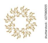 mandala of spikelets. golden...   Shutterstock .eps vector #637080055