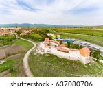 feldioara marienburg citadel ... | Shutterstock . vector #637080706