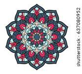mandala. ethnic decorative... | Shutterstock .eps vector #637080952