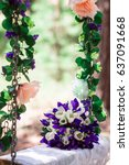 flowers on swing | Shutterstock . vector #637091668