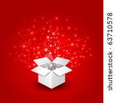 magic gift box with a big... | Shutterstock .eps vector #63710578