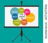 business seminar. marketing mix.... | Shutterstock . vector #637107406