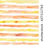 watercolor striped background... | Shutterstock . vector #637111765