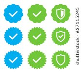 approved  verified and... | Shutterstock .eps vector #637115245