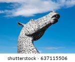 falkirk  scotland   august 22 ... | Shutterstock . vector #637115506