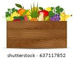 healthy freshly harvested... | Shutterstock . vector #637117852