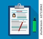 human resources management... | Shutterstock . vector #637118062