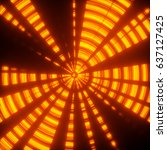 abstract concentric light... | Shutterstock . vector #637127425