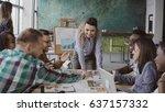 creative business team... | Shutterstock . vector #637157332