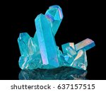 amazing colorful quartz rainbow ... | Shutterstock . vector #637157515
