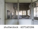 abandoned factory   urban... | Shutterstock . vector #637165186