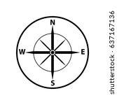 compass icon. flat design....   Shutterstock .eps vector #637167136