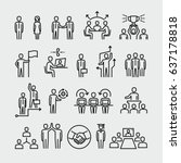 business people vector line... | Shutterstock .eps vector #637178818