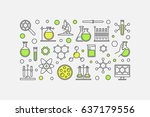 chemistry lab colorful... | Shutterstock .eps vector #637179556