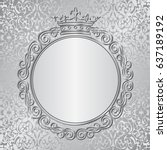 silver background with royal... | Shutterstock .eps vector #637189192