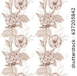 hand drawn seamless pattern... | Shutterstock .eps vector #637205842