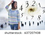 numerology  magic of numbers | Shutterstock . vector #637207438