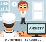 anxiety medical concept. vector ...   Shutterstock .eps vector #637208572