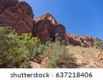 zion national park  utah  ... | Shutterstock . vector #637218406