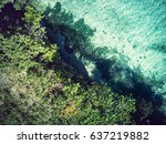Aerial View Of Coast With...