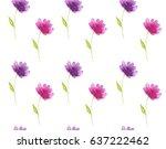 seamless floral pattern... | Shutterstock . vector #637222462