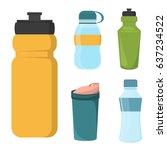 blank bicycle plastic bottle... | Shutterstock .eps vector #637234522