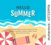 hello summer concept vector... | Shutterstock .eps vector #637235956