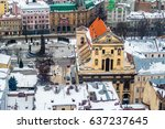 winter panorama view from the... | Shutterstock . vector #637237645