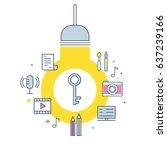 intellectual property concept... | Shutterstock .eps vector #637239166
