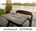 old black wood chairs  and... | Shutterstock . vector #637239466