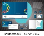 folder template design for... | Shutterstock .eps vector #637248112