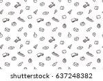 hand drawn logistics seamless... | Shutterstock .eps vector #637248382