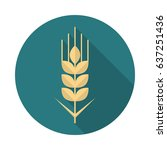 wheat grain circle icon with... | Shutterstock .eps vector #637251436