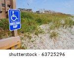 Handicap Beach Access Sign At...