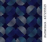 polka dot pattern of dots.... | Shutterstock .eps vector #637255525
