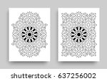 ornamented covers design in... | Shutterstock .eps vector #637256002