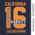 california beach typography... | Shutterstock .eps vector #637256095