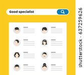 recruitment. find person for... | Shutterstock .eps vector #637259626