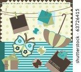 scrapbook elements  vector | Shutterstock .eps vector #63726415