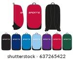 sportswear backpack    front ...   Shutterstock .eps vector #637265422