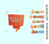 millennials motivation believe... | Shutterstock .eps vector #637265476