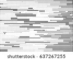 abstract black and white... | Shutterstock .eps vector #637267255
