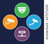 cctv icons set. set of 4 cctv... | Shutterstock .eps vector #637271242