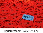 tickets used for entrance into... | Shutterstock . vector #637274122