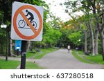 no bicycle sign | Shutterstock . vector #637280518
