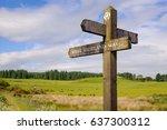 west highland way  scotland   a ... | Shutterstock . vector #637300312